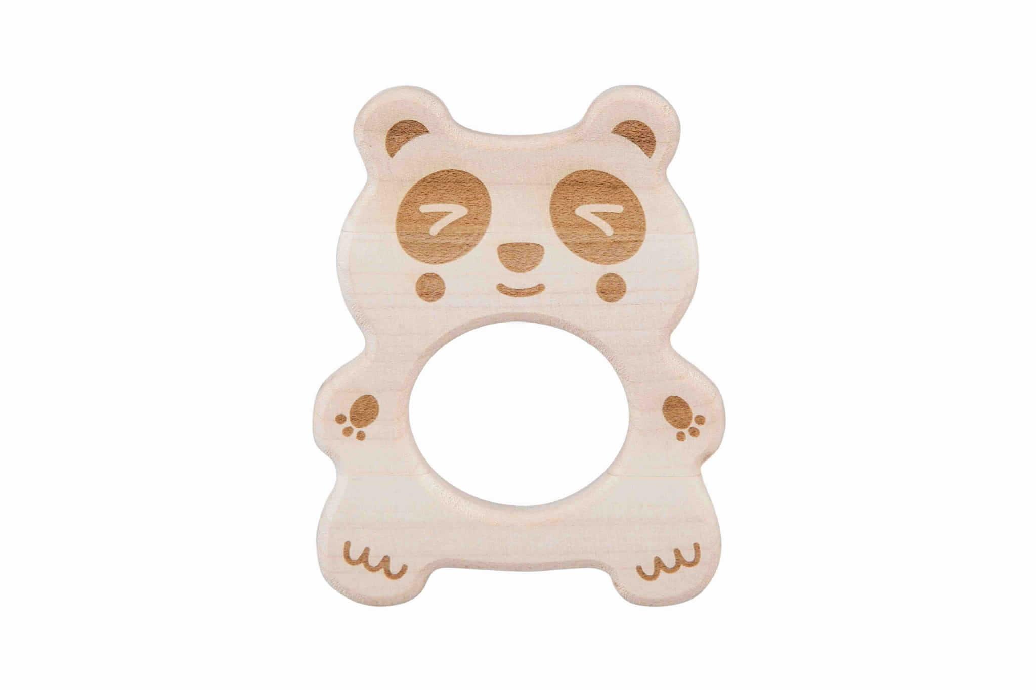 Gryzak drewniany eco Panda