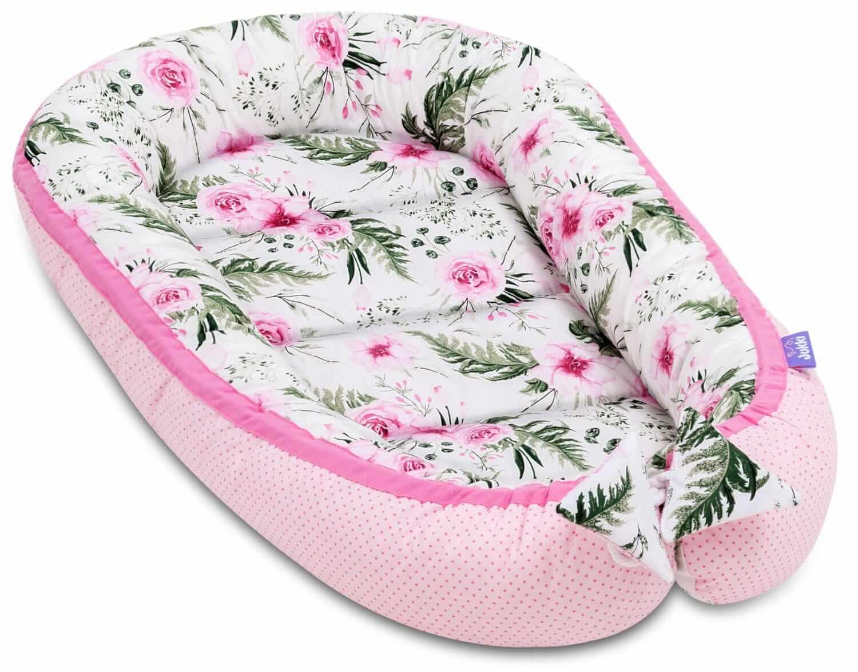 Kokon Long - In Garden Pink z lamówką