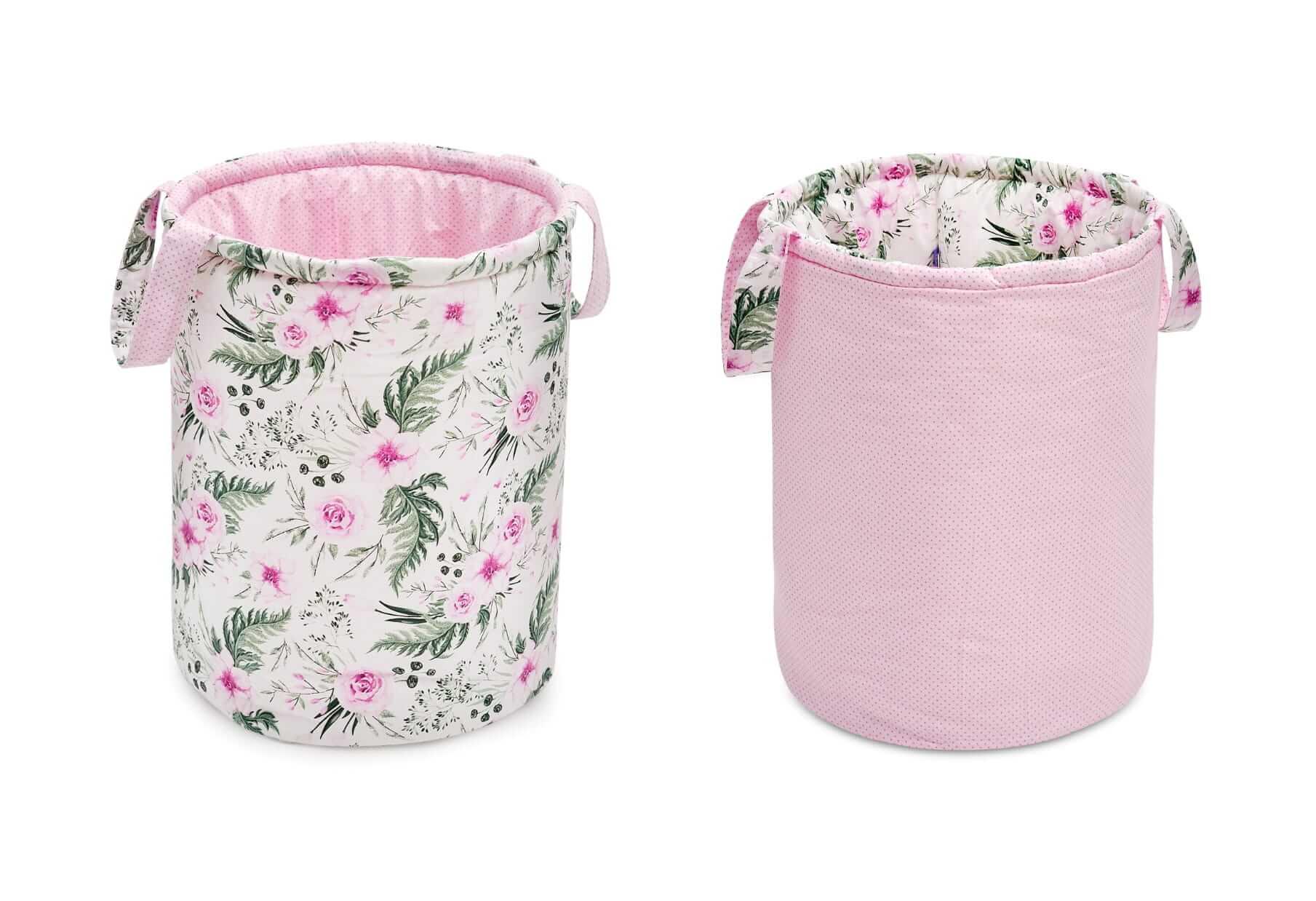 Kosz na zabawki, dwustronny, in garden pink