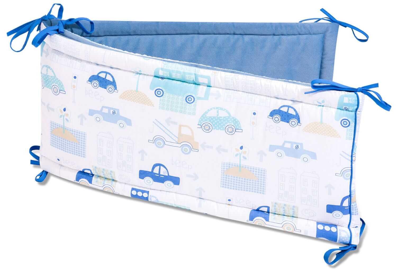 Ochraniacz do łóżeczka - Blue Avenue i velvet w kolorze jeansowym