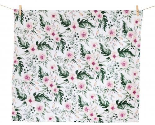 Pieluszka flanelowa - In Garden Pink