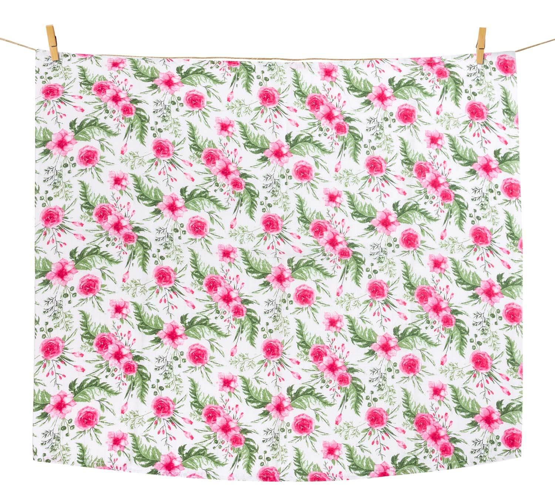 Pieluszka tetrowa - in garden pink