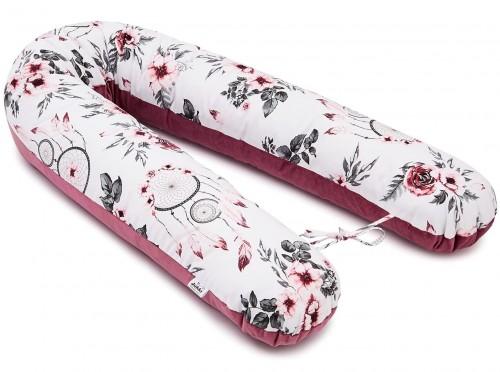 Poduszka ciążowa V - Summer Dream i Velvet w kolorze Old Rosa