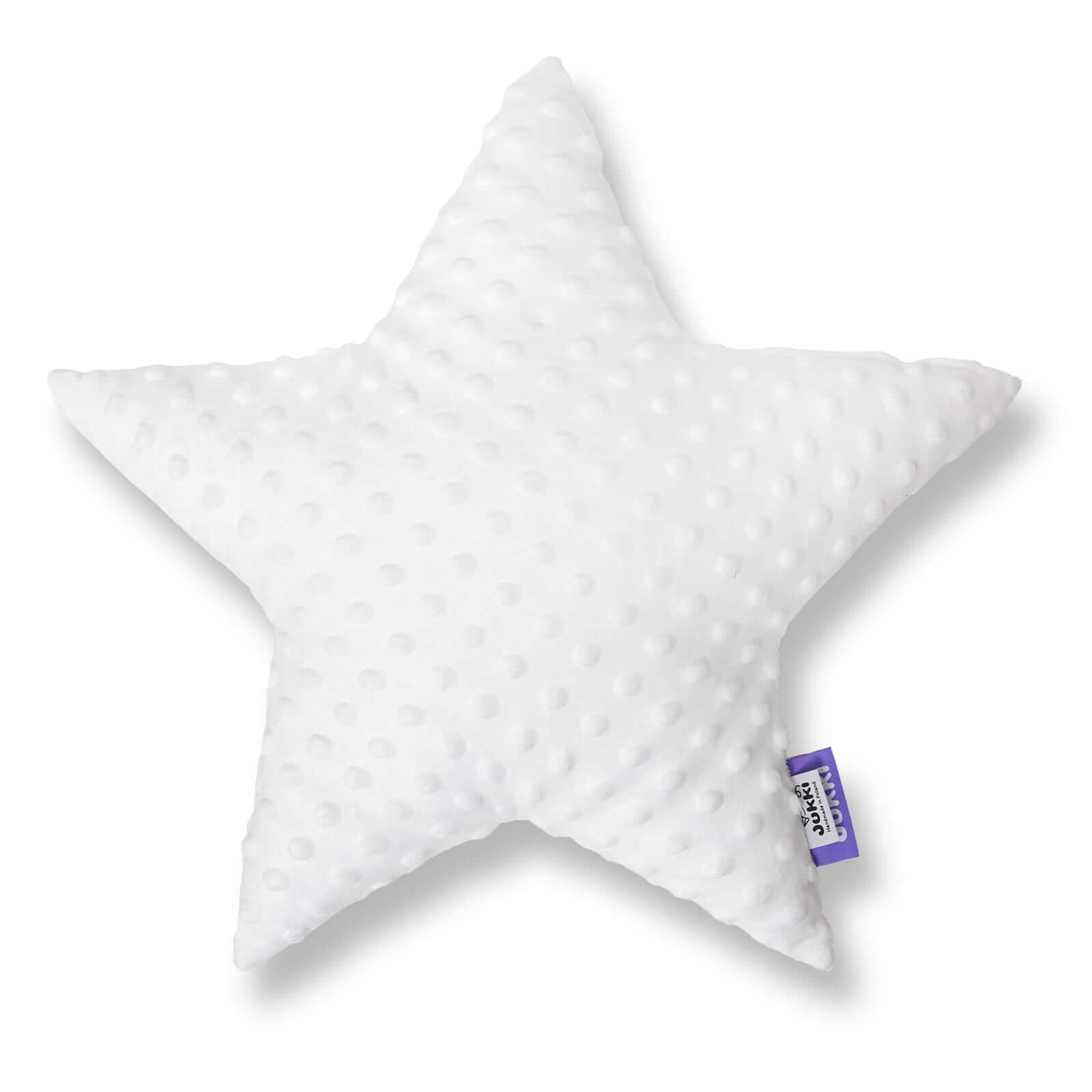 Poduszka gwiazdka - białe minky