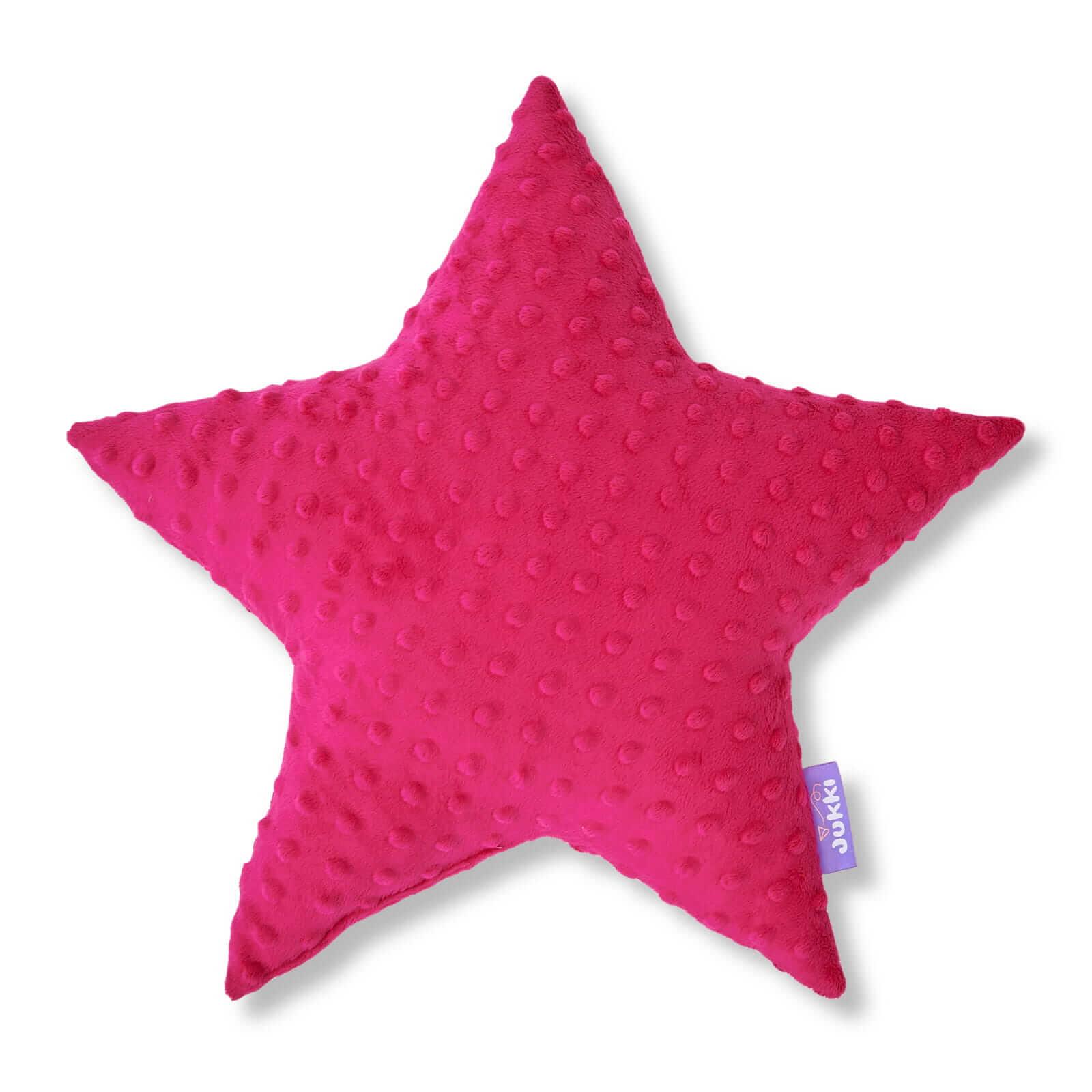 Poduszka gwiazdka - fuksjowe minky