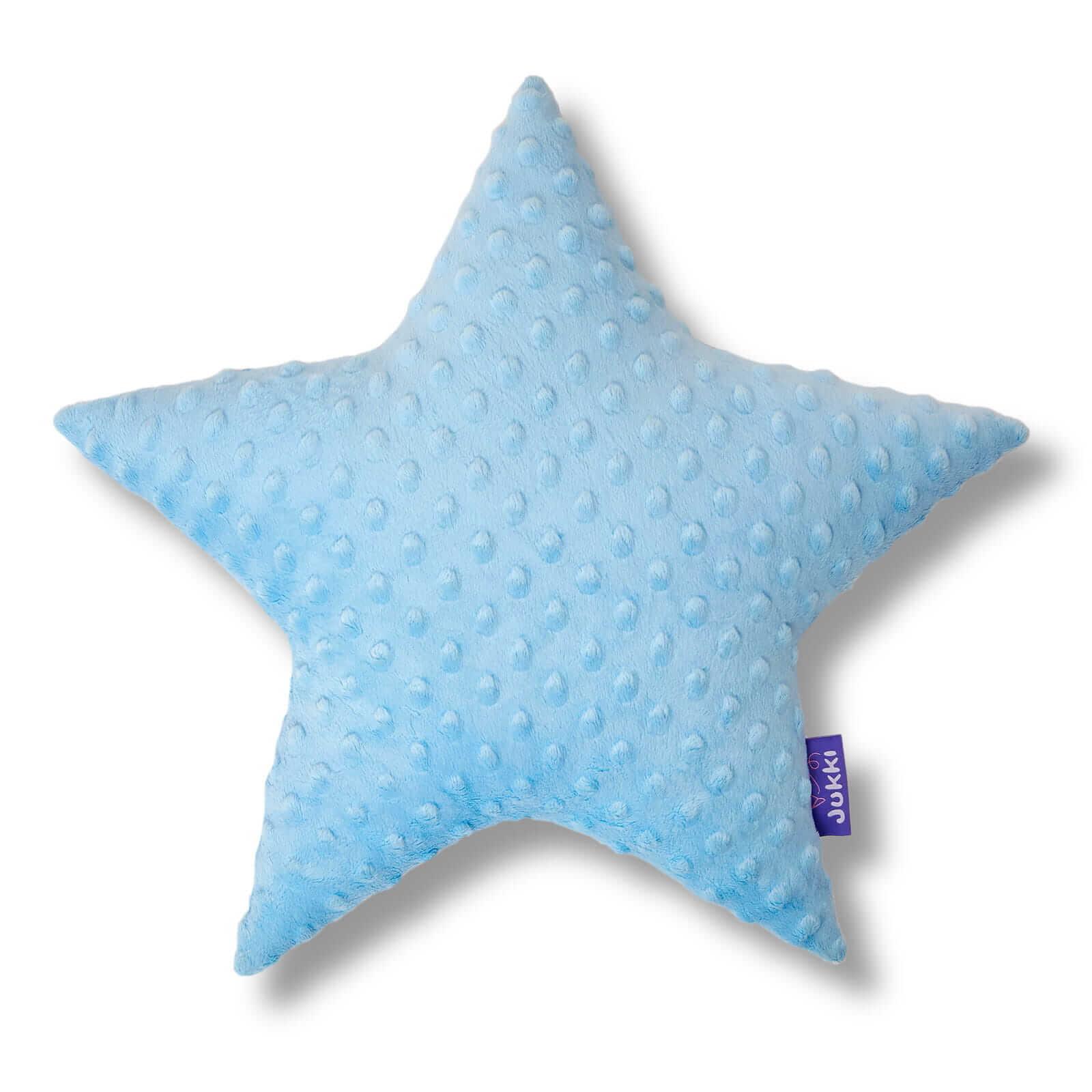 Poduszka gwiazdka - błękitne minky