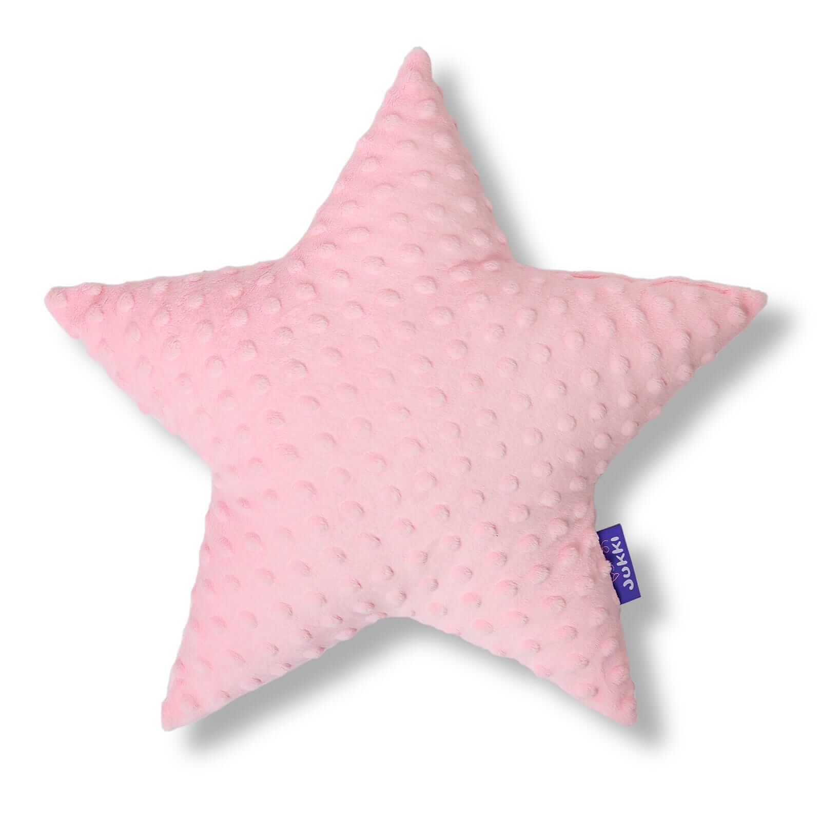 Poduszka gwiazdka - róż pudrowy minky