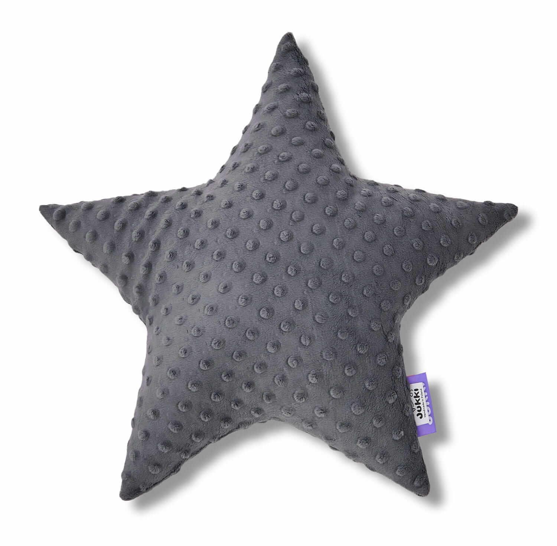 Poduszka gwiazdka - szare minky