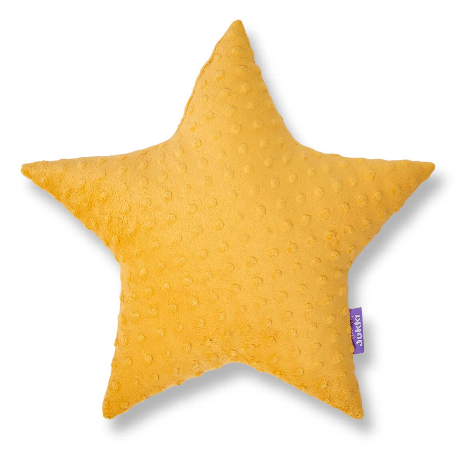 Poduszka gwiazdka - żółte minky