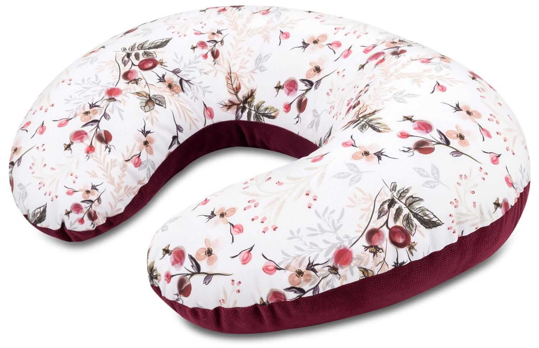 Poduszka rogal premium - Royal Rose i Velvet w kolorze burgundowym