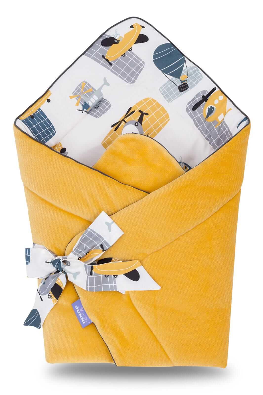 Rożek niemowlęcy premium i velvet - Honey Mood i velvet w kolorze miodowym